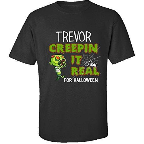 Costume Trevor Halloween (Trevor Creepin It Real Funny Halloween Costume Gift - Adult Shirt S)