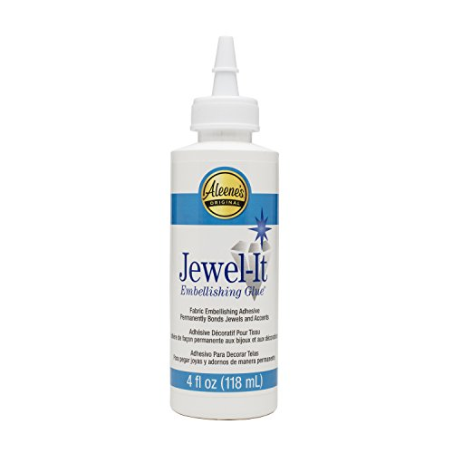 Fabric Dries Clear Adhesive (Aleene's 15631 Jewel-It Embellishing Glue 4oz)