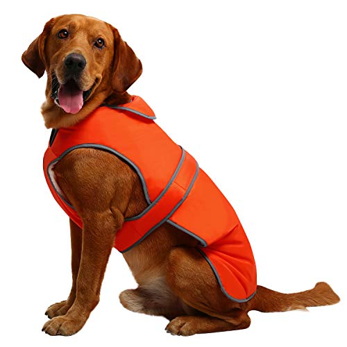 MIGOHI Reflective Waterproof Windproof Dog Coat Cold Weather Warm Dog Jacket Reversible Stormguard Winter Dog Vest for Small Medium Large Dogs