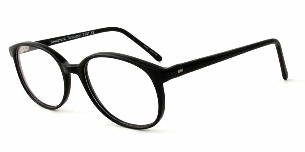 Boulevard Boutique Rx Designer Reading Glasses 2127 in Black ; DEMO LENS
