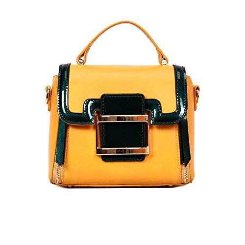 Bolso De Mano Bandolera Mensajero Multifunción Bolsos De Mujer De Moda Bolsos De Compras Bolsas De Hombro Bolsas De Embrague De Cuero De Las Mujeres Bolsas Yellow