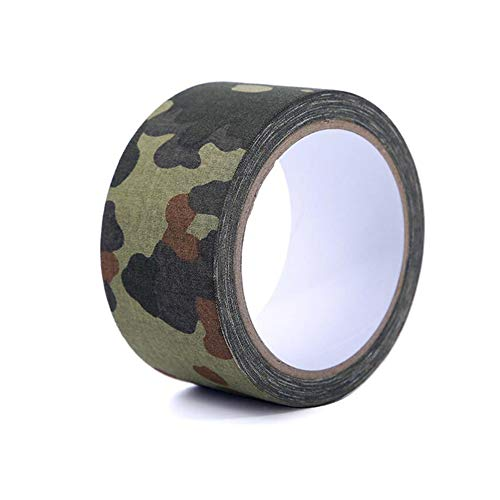 Gun Camo Tape - Pastall 5CM×10M Camo Tape Self Adhesive Camouflage Bandage Wrap Cohesive Cotton Medical Vet Tape for Outdoor Camping Military Hunting Gun (Spotted Camouflage)