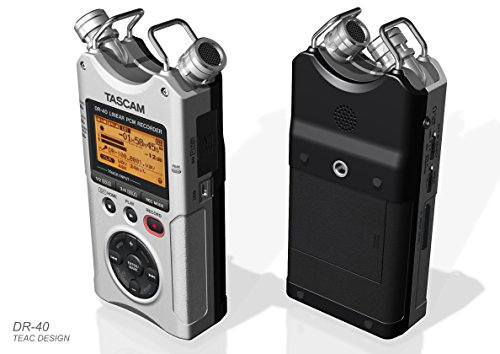 Digital Voice Recorders Tascam Dr 40 4 Track Handheld Audio Silver