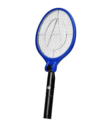 AOWOTO Electric Bug Zapper Fly Swatter Zap Insect Fruit Mosquito Killer,Portable Foldable & Compact Racket, Best for indoor and Outdoor Pest Control(AA Batteries NOT Included) by AOWOTO