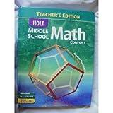 Middle School Math, Holt, Rinehart and Winston Staff, 0030651816