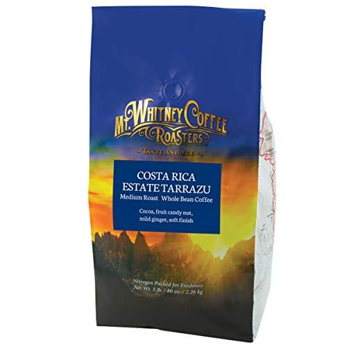 Mt. Whitney Costa Rica Estate Tarrazu Coffee (Whole Bean, 5 Lb)