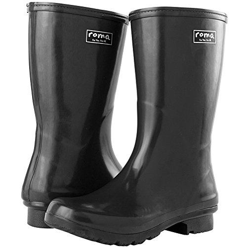 Grey Boots Rain Women's Boots Mid Roma EMMA YXOIx