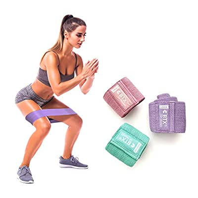 Fabric Non Slip Hip Bands for Booty Resistance Workout Bands by Core Fitness USA , Set of 3, Perfect for Squats, Butt, Thigh and Hip Workout. Video Training Videos and Booklet Included from Core Fitness USA