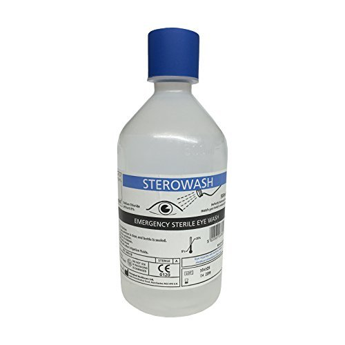 TRIPLE PACK OF STEROWASH STERILE SODIUM CHLORIDE 500ML FIRST AID WOUND CLEANING SALINE EYE WASH BOTTLES by (Sodium Chloride Saline)