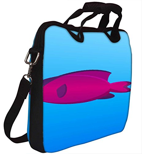 Snoogg 30,5cm 30,7cm 31,8cm Zoll Laptop Notebook Computer Schultertasche Messenger-Tasche Griff Tasche mit weichem Tragegriff abnehmbarer Schultergurt für Laptop Tablet PC Ultrabook Chromebook Lapt