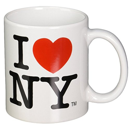 I Love NY Mug - White Ceramic 11 ounce I Love NY Mugs from the New York City Souvenir Store