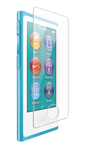 (CROSSFOREST Glass Screen Protector for iPod nano 8(7) Generation |Round Edge | Home Button Cover Bundling | CF-GHIPN7)