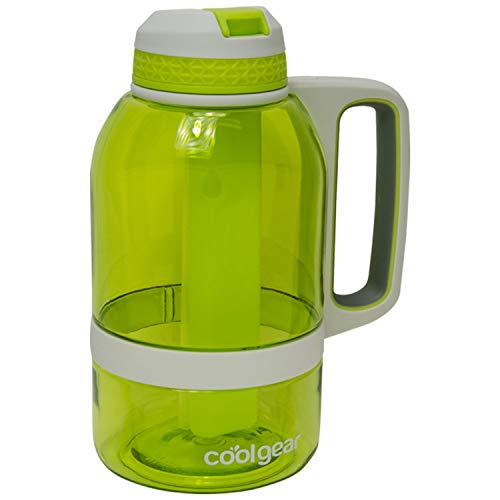COOL GEAR 64oz System Water Bottle with Freezer Stick and Handle (Freezer Stick Bottle)