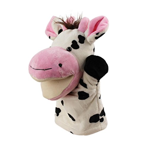 Hand Puppet Toys, Ikevan Cute Cartoon Animal Doll Kids Glove Hand Puppet Soft Plush Toys Story Telling,4 Choices (C) ()