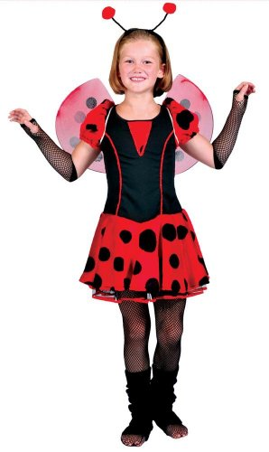 Funny Fashion Girls Ladybug Cutie Kids Costume As Shown - Small