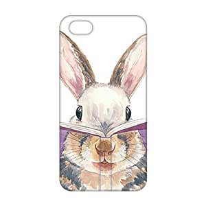 Angl 3D Case Cover Cute Rabbit Phone Case for iPhone 5s