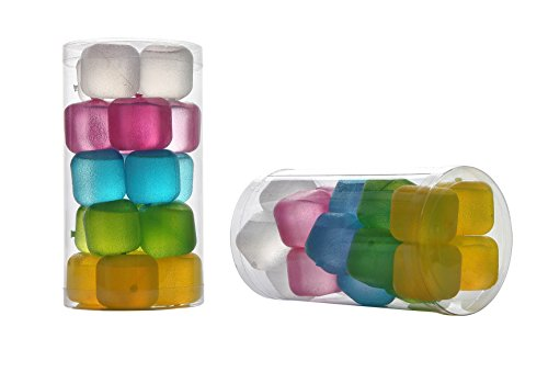 Reusable Frosted Plastic Ice Cubes(Plastic Pack of 20)