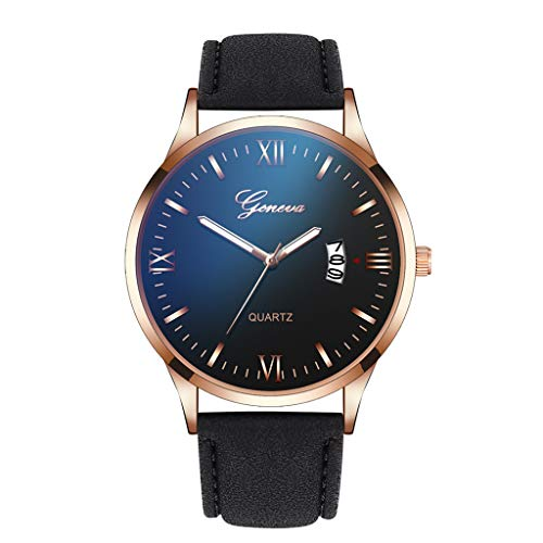 Londony  Men's Fashion Minimalist Wrist Watch Analog Date with Stainless Steel Mesh/Leather Band Business Wrist Watch ()