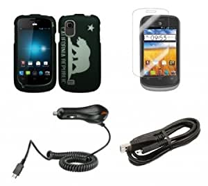 Cerhinu ZTE Avail 2 (AT&T) - Accessory Combo Kit - California Republic Bear Design Shield Case + Atom LED Keychain Light...