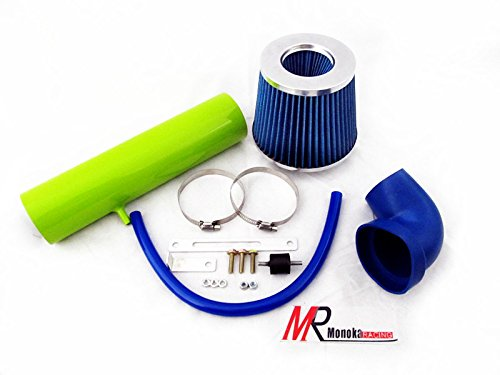 01 Injen Cold Air Intake (1997 1998 19999 2000 2001 2002 2003 2004 Jeep Grand Cherokee All Models with 4.0L L6 Engine Green Piping Short Ram Air intake System Kit with blue Filter)