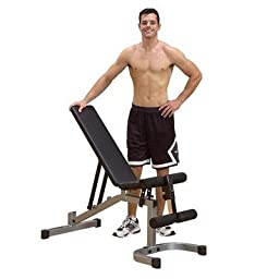 Flat / Incline / Decline Utility Bench Powerline Leg Developer: Not Included, Powerline Preacher Curl: Included