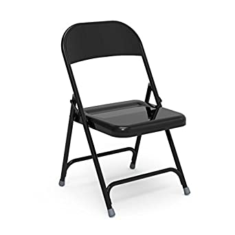 Amazon.com: Virco Folding Chair, Black, 18\