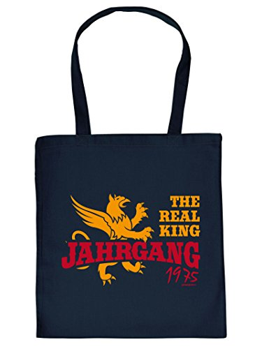 THE REAL KING JAHRGANG 1975 :Tote Bag Henkeltasche. Beutel mit Aufdruck. Tragetasche, Must-have, Stofftasche