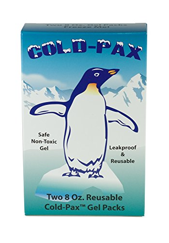 GMS Cold-Pax - 8 oz Reusable Gel Pack Refrigerant (2 Pack) 6'' x 4'' x 3/4'' by GMS Cold-Pax
