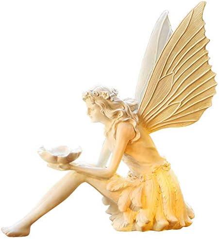 庭の装飾ブーケ天使の翼の置物防水樹脂庭の庭の芝生の装飾風景ギフト-36 * 22 * 40 cm B
