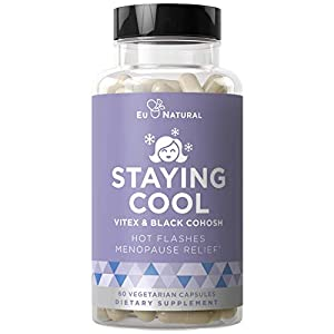 Gut Health Shop 413kMfsg-cL._SS300_ Staying Cool Hot Flashes & Menopause Natural Relief – Hormonal Weight Support, Night Sweats, Disturbed Sleep, Mood…