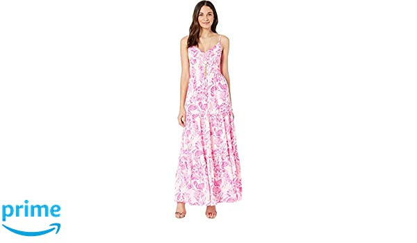 7f27862bb62e01 Amazon.com: Lilly Pulitzer Women's Melody Maxi Dress Coral Reef Tint ...