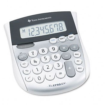 Texas Instruments TI-1795SV Minidesk Calculator CALCULATOR,DSKTP,SLR,PLUS DPCE330 (Pack of8) by Texas