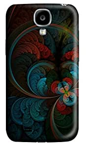 Case for Samsung Galaxy S4-Abstract Feather Polycarbonate Hard Case Back Cover for Samsung Galaxy S4/ SIV / I9500