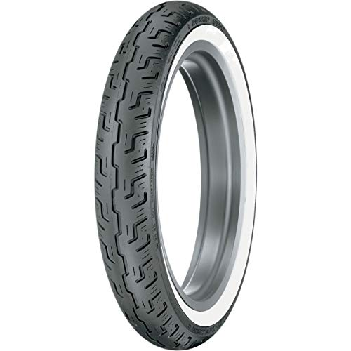 Dunlop D401 Front Motorcycle Tire 100/90-19 (57H) Wide White Wall - Fits: BMW F650 1997-1999