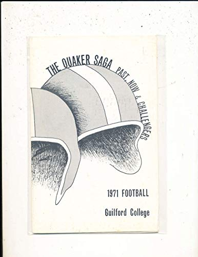 1971 Guilford College football Media Guide a31 BX 76 from P&R publications