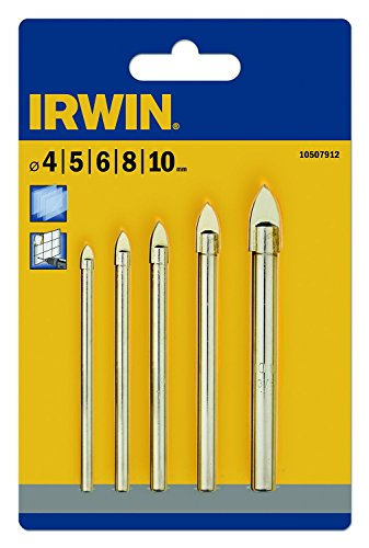 Irwin Tools Irwin Glass & Tile Drill Bit 5 Piece Set 4-10Mm by