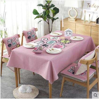 Europe luxury embroidered tablecloth table dining table cover table cloth Simple fabric waterproof tablecloth coffee table cloth   B07R8SCFD4
