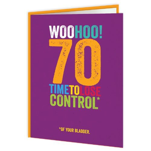 Brainbox Candy Funny Humorous 70 Age Birthday Greetings Card