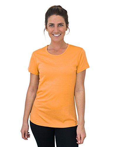 Woolx Womens Addie Soft Lightweight Merino Wool Tee,Eliminates Odor & Sweat, Sunset, X-Large