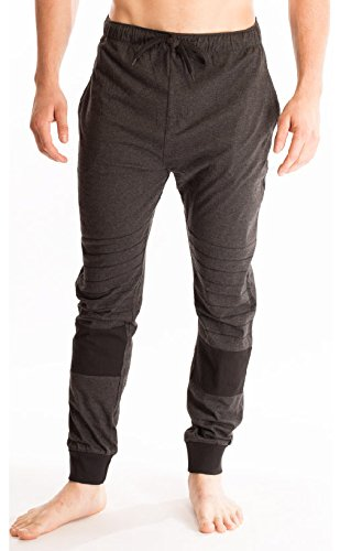 Bottoms Out Men's Strech Fit Superior Comfort Elastic Cotton Lounge Sleep Hangout Men's Jogger (Out Lounge Pants)