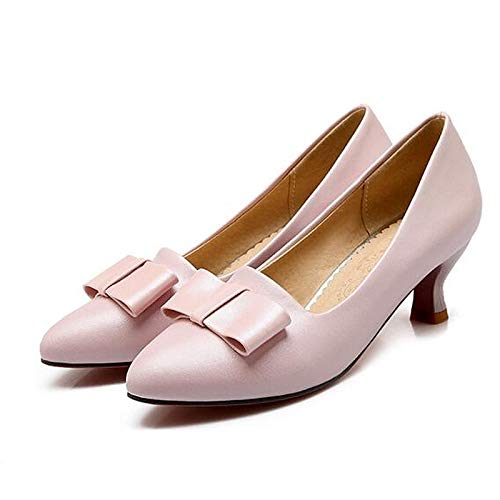 Heels Heel Rosa Zapatos Poliuretano PU Azul Comfort Spring Negro Pink ZHZNVX de Mujer Low 7dw7z0