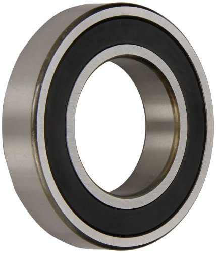 (NSK 6203VV Deep Groove Ball Bearing, Single Row, Double Sealed, Non-Contact, Pressed Steel Cage, Normal Clearance, Metric, 17mm Bore, 40mm OD, 12mm Width, 17000rpm Maximum Rotational Speed, 1079lbf Static Load Capacity, 2147lbf Dynamic Load Capacity)