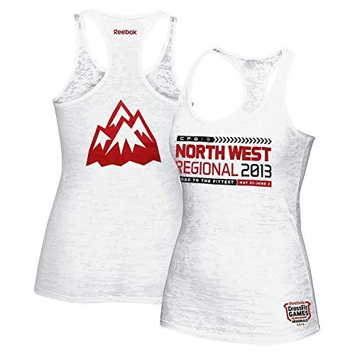 (Reebok 2013 Crossfit North West Regional Women's White Burnout Tank Top)