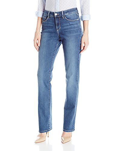 NYDJ Women's Marilyn Straight Leg Denim Jeans, New Heyburn, 8