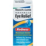 Twin Pack (2 Bottles) of Bausch & Lomb Advanced Eye Relief Maximum Relief