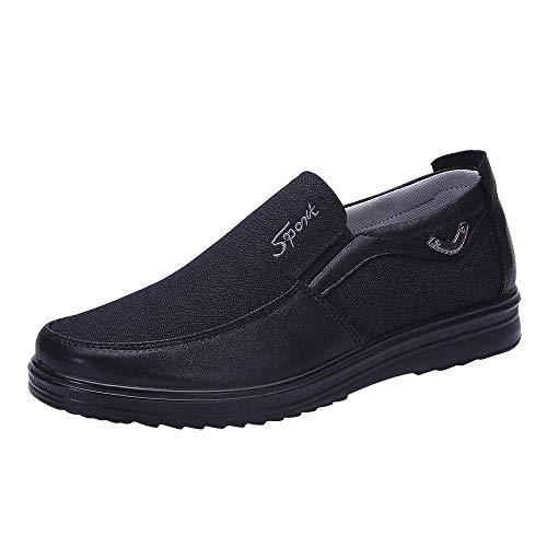 Hommes Chaussures Bateau Rétro Affaires Noir Doux Sneaker Antidérapant Casual Appartement Sunnejoy Bas En Mocassins Confortable Respirant Mode Cuir Durable Décontractée Pour 7xWnwx4trO