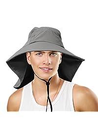 Sun Blocker® Unisex Large Bill Flap Sun Hat Camping Hiking Hunting Fishing Cap