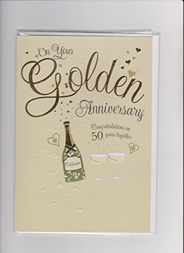Golden Prelude - Prelude On Your Golden Wedding Anniversary Congratulations 50 Years Together Card