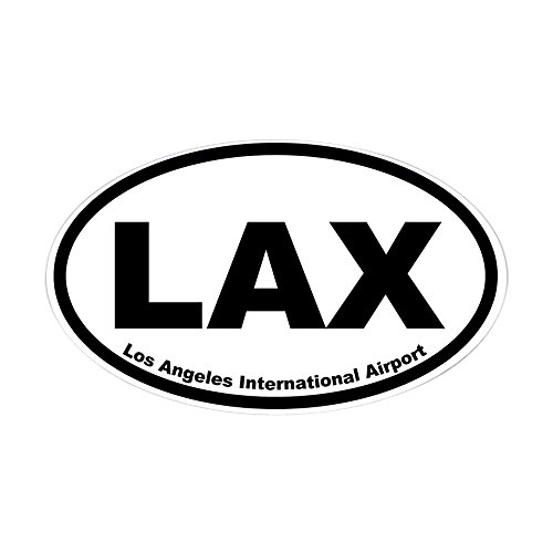 (CafePress Los Angeles International Airport Oval Sticker Oval Bumper Sticker, Euro Oval Car Decal)