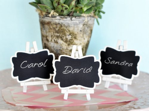 Framed Chalkboard Place Cards with Easel - Set of Three (Iii Framed Set)